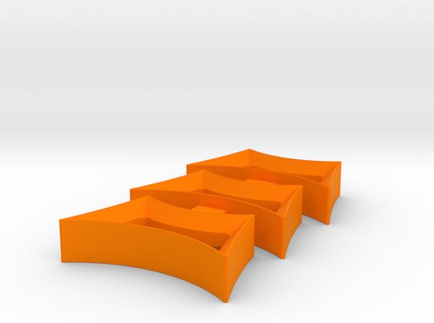 Bevel-holed fidget spinner insert in Orange Processed Versatile Plastic