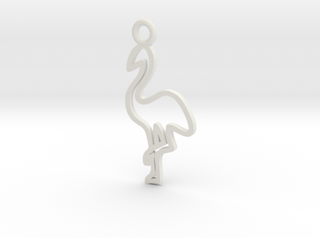Flamingo Charm! in White Strong & Flexible