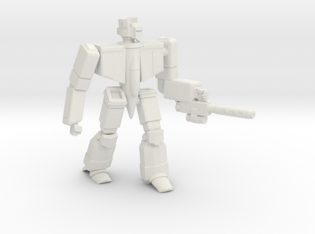Omega Fighter Battlesuit in White Natural Versatile Plastic