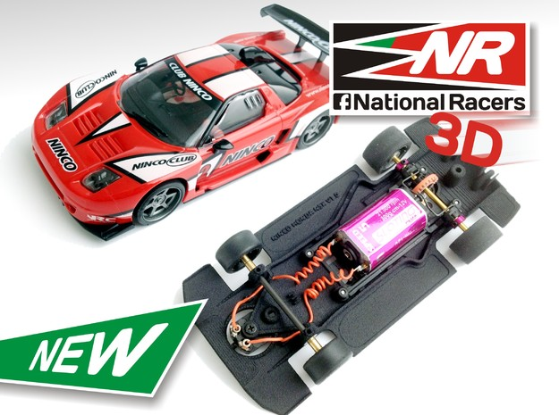 3D Chassis - NINCO HONDA NSX (Combo) in Black Strong & Flexible