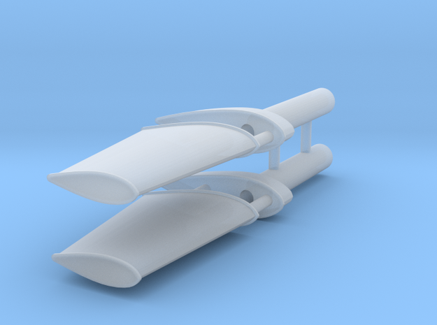 FCS 2610 rudder (2 pcs) in Frosted Ultra Detail