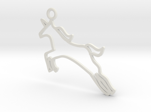 Unicorn Charm! in White Strong & Flexible
