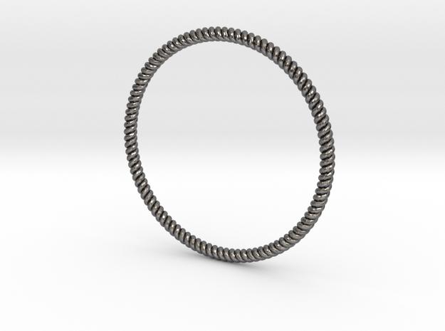 Bracciale Attorciliato in Polished Nickel Steel