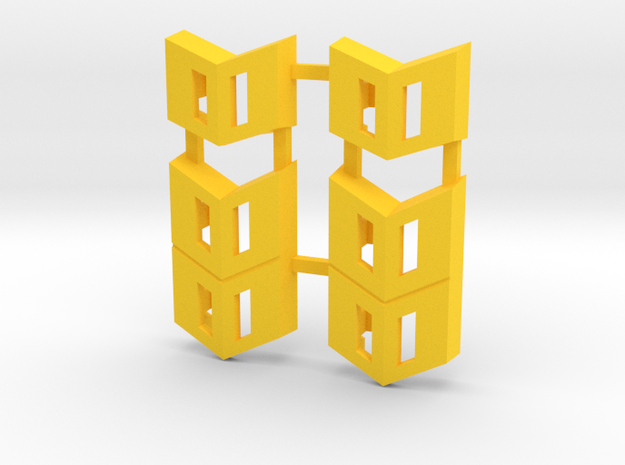 Omega Supreme Leg Clips G1 reproduction in Yellow Processed Versatile Plastic