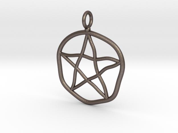 Warped pentagram necklace in Stainless Steel