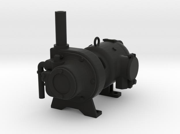 TurboGenerator1.5.stl in Black Natural Versatile Plastic