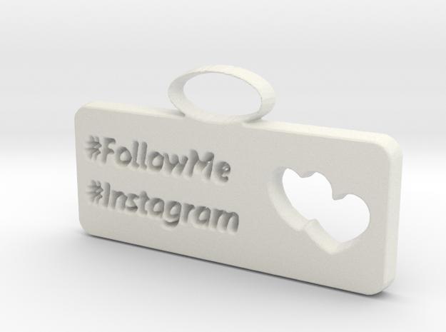 Instagram charm in White Strong & Flexible