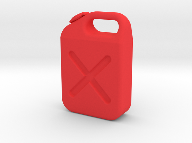 1/24 Scale Gas Tank in Red Processed Versatile Plastic