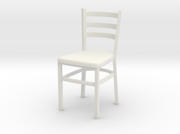 Chair 07. 1:24 Scale in White Strong & Flexible