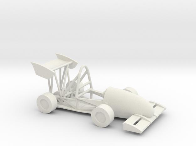CMU FSAE Car in White Natural Versatile Plastic