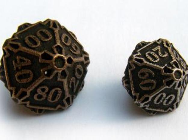 Large Decader Die10 3d printed Compared to the standard-sized Die10 Decader