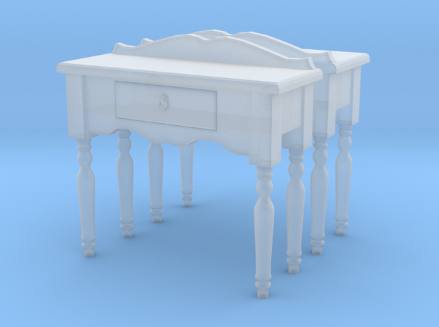 Hall side table 01. O Scale (1:48) in Frosted Ultra Detail