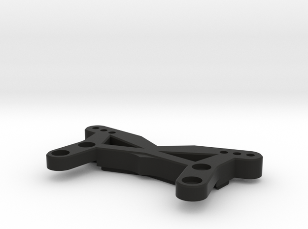 """BPERC """"Streamline"""" Front Shock Tower for TLR 22B in Black Strong & Flexible"""