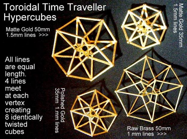Toroidal Hypercube 50mm 1mm Time Traveller 3d printed These variations are all available www.Shapeways.com/shops/SacredGeometryWeb