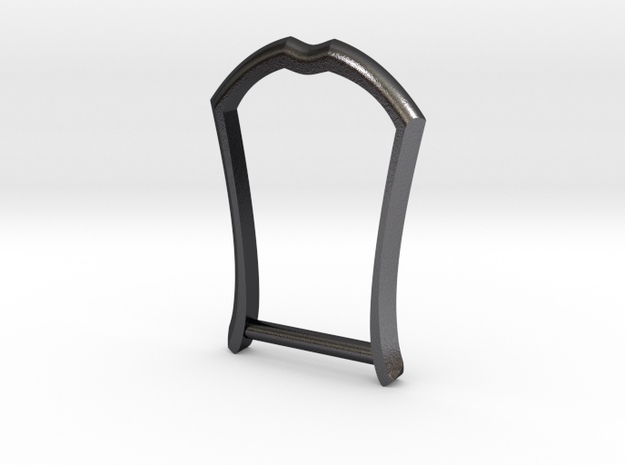 "1.25"" Long Buckle Frame, Accented - STEEL in Polished and Bronzed Black Steel"