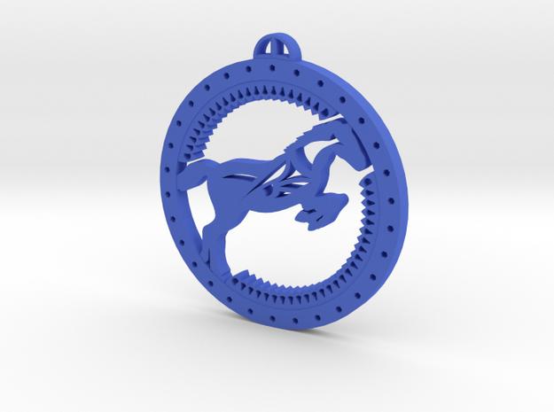 Médaillon Cheval in Blue Processed Versatile Plastic