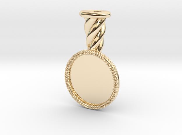Plume Holder Lancelot in 14k Gold Plated Brass