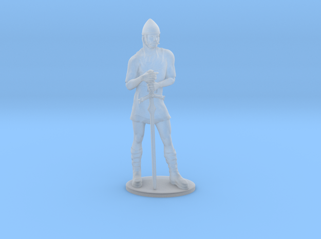Human Fighter Miniature in Smoothest Fine Detail Plastic: 1:60.96