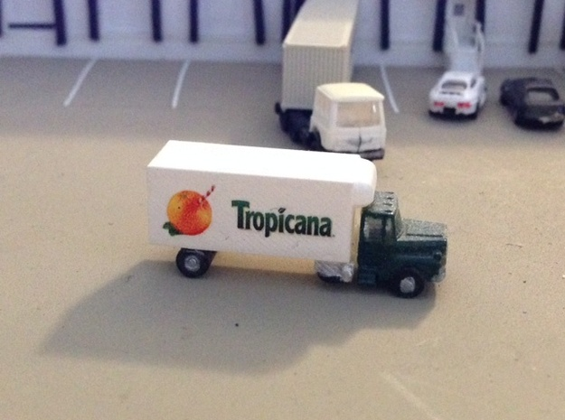 Mack Refrigerator Truck - Z scale  in White Acrylic