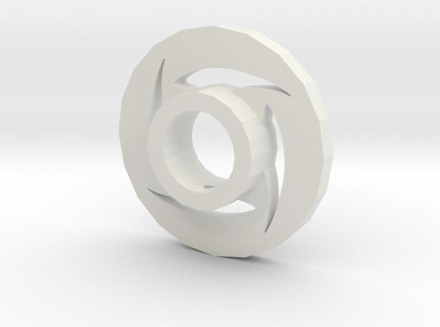 Lightsaber Tsuba Star Design in White Natural Versatile Plastic