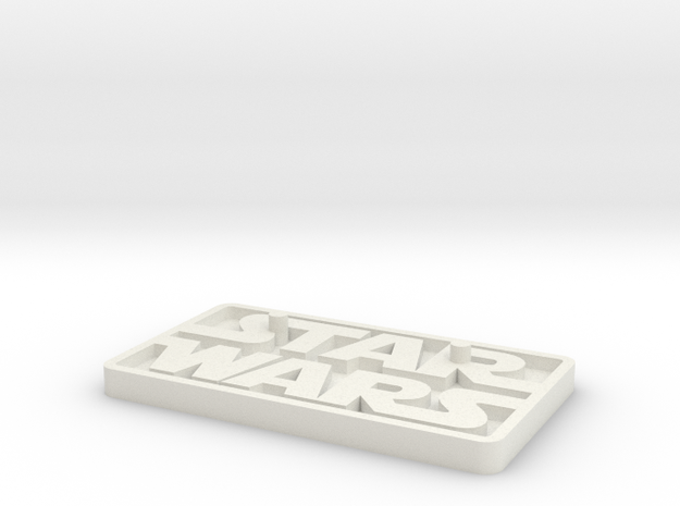 "Star Wars Black Series 6"" figure base (larger peg) in White Natural Versatile Plastic"