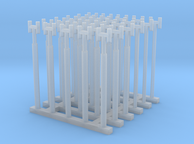 1/144 Fairmile Stove Pipes (H Shape) x30  in Smoothest Fine Detail Plastic