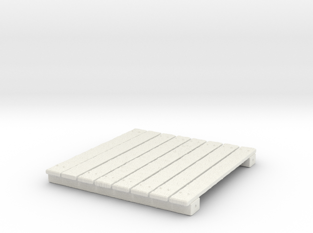 Wooden Deck for Tabletop Wargaming in White Strong & Flexible