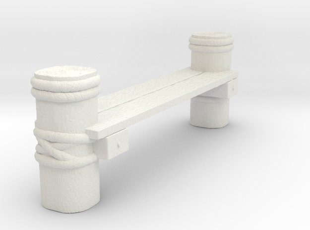 Connector Piece For Wooden Deck for Tabletop Warga in White Strong & Flexible