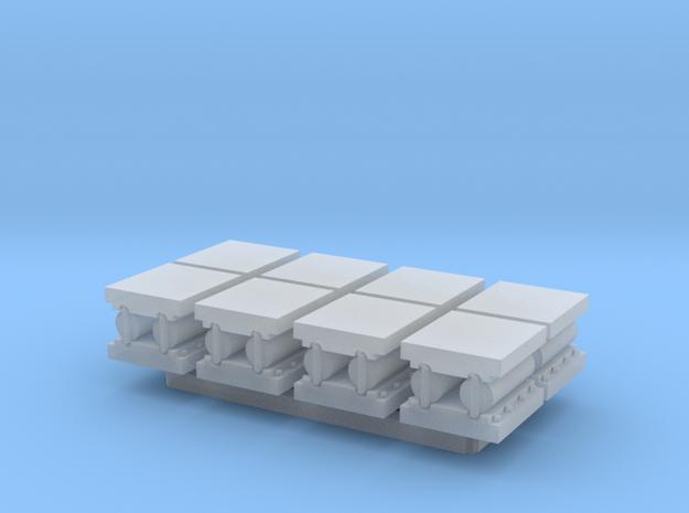 N Scale Bridge Roller Bearings #3 (8pc) in Smooth Fine Detail Plastic