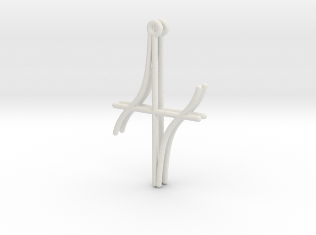Cotangent Function Earrings in White Natural Versatile Plastic