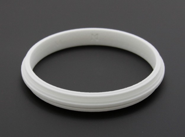 MizNK Bracelet NO.406 Inspired by Urban Sky-Line in White Strong & Flexible: Small