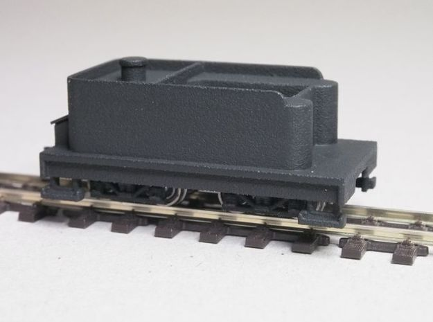 Small 8 wheel Tender for HOn30 F&C loco, ver.A 3d printed