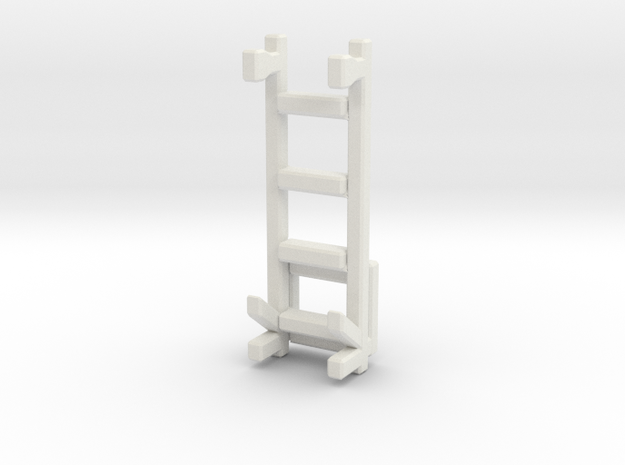 1/87 Rear Ladder 2 in White Natural Versatile Plastic