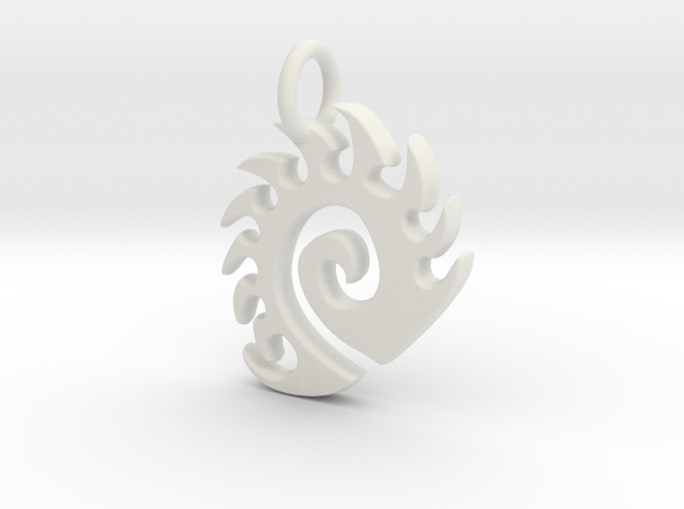 Zerg Charm in White Natural Versatile Plastic