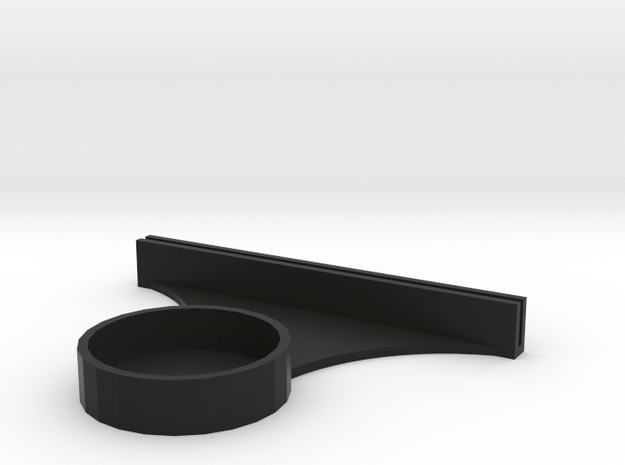 Lithophane tealight stand in Black Strong & Flexible