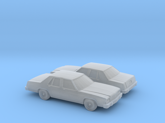 1/160 2X 1989 Ford Crown Victoria in Smooth Fine Detail Plastic