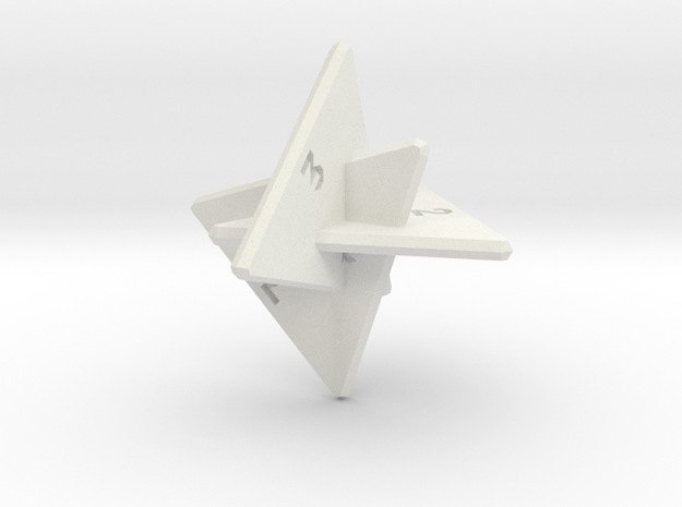 Planar d8 in White Strong & Flexible