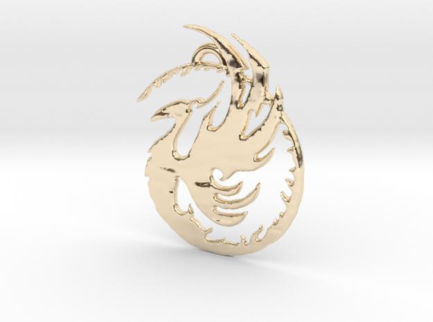 Phoenix 1 in 14k Gold Plated Brass