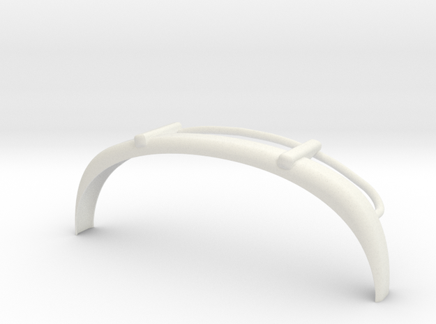 VW T1 Frontbumper in White Natural Versatile Plastic