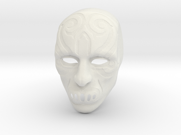 Harry Potter Death eater mask version #6 in White Strong & Flexible