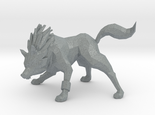 DRYAD WOLF in Polished Metallic Plastic