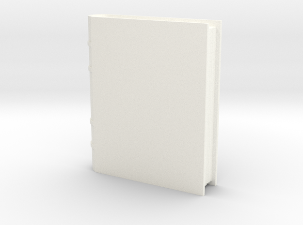 Book Generic 1 in White Strong & Flexible Polished