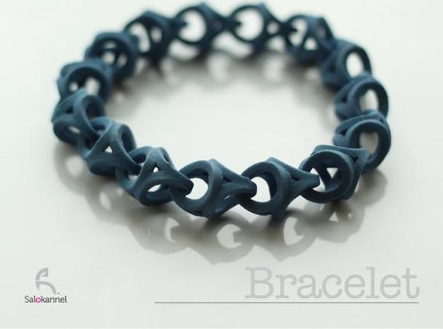Crossover Thick - Bracelet size S in Blue Strong & Flexible Polished