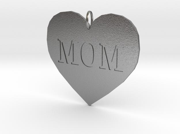 Mom Pendant in Raw Silver