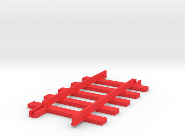 Tri-ang Big Big Train Track 5 Sleepers in Red Processed Versatile Plastic