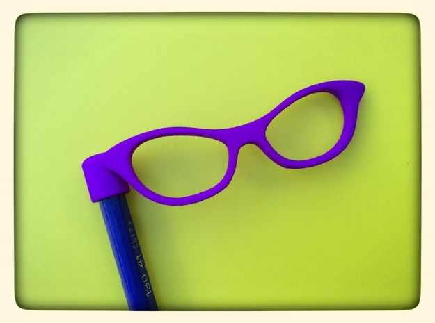 Glasses Penciltop: The Librarian in Purple Processed Versatile Plastic