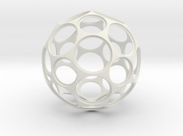 Coin Ball 25 1 in White Strong & Flexible
