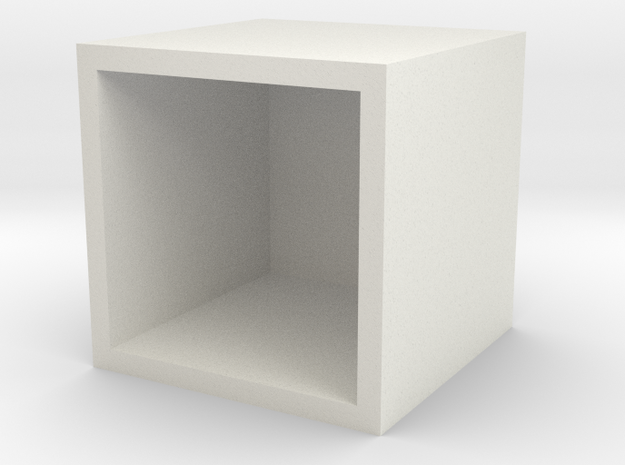 The Uc Cube Stone in White Natural Versatile Plastic