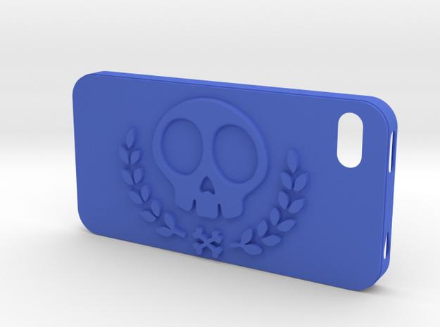 IPhone 4S Skull Case vol.2 in Blue Processed Versatile Plastic