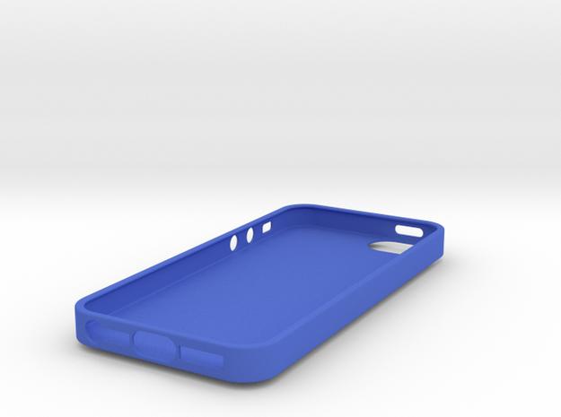 IPhone 5S Skull Case vol.2 in Blue Processed Versatile Plastic